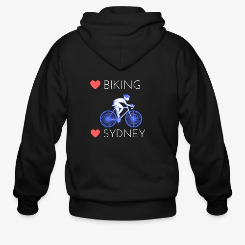 Love Biking Love Sydney tee shirts - Men's Zip Hoodie