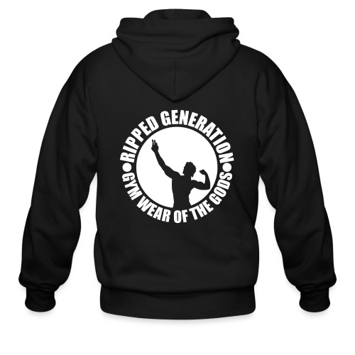 Ripped Generation Gym Wear of the Gods Badge Logo - Men's Zip Hoodie