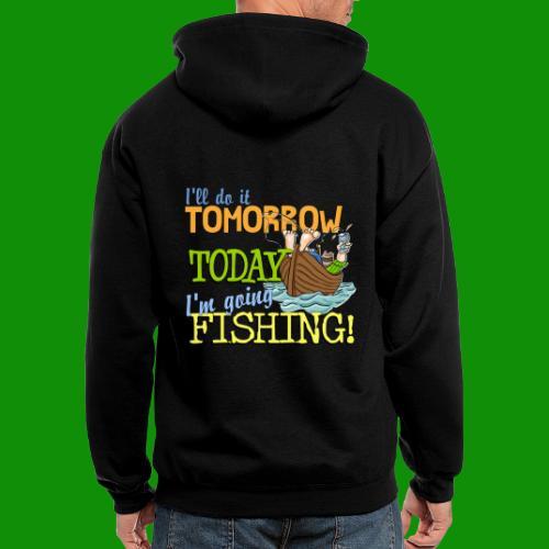 Today I'm Going Fishing - Men's Zip Hoodie
