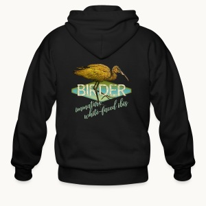 BIRDER - White-faced ibis - Carolyn Sandstrom - Men's Zip Hoodie