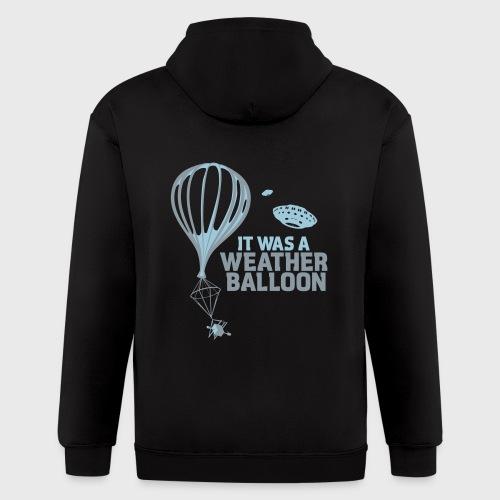Weather Balloon UFO - Men's Zip Hoodie