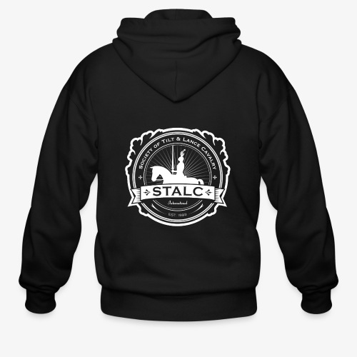 STALC Logo White only - Men's Zip Hoodie