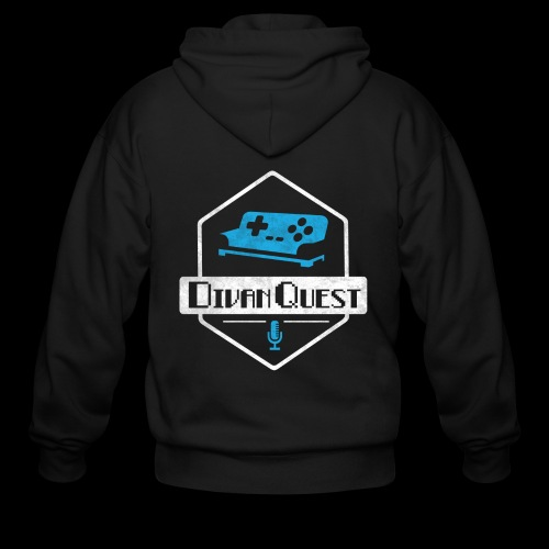 DivanQuest Logo (Badge) - Men's Zip Hoodie