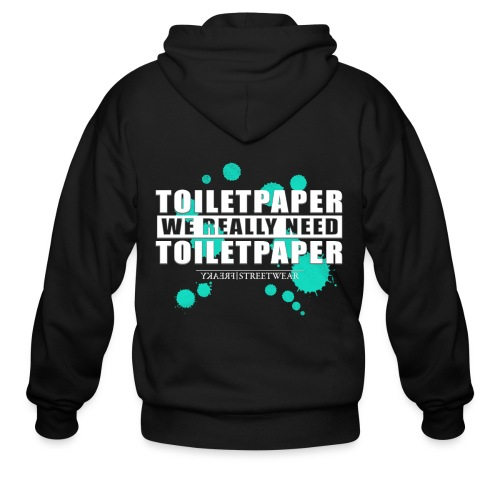 We really need toilet paper - Men's Zip Hoodie