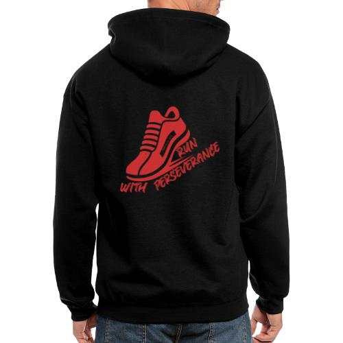 Run with perseverance - Men's Zip Hoodie