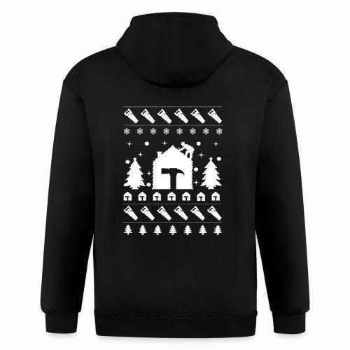 Christmas Contractor Tradesman Repairman Rooftop. - Men's Zip Hoodie