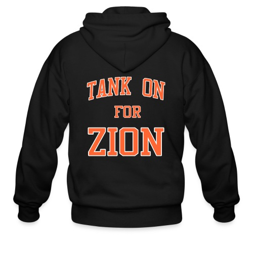 Tank On For Zion - Men's Zip Hoodie