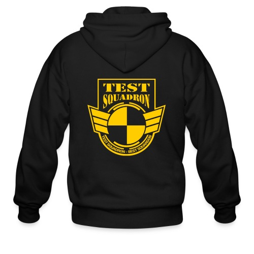 testlogo full Yellow trans png - Men's Zip Hoodie