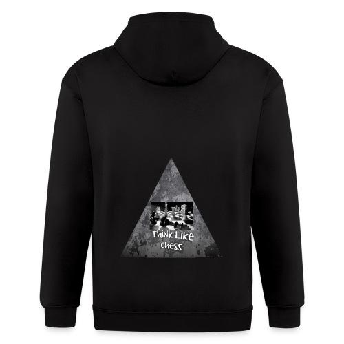 Think Like Chess Logo - Men's Zip Hoodie