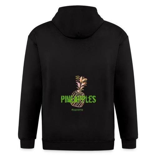 pineapples - Men's Zip Hoodie