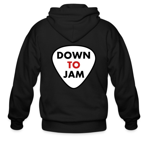 DownToJam 3 colour - Men's Zip Hoodie