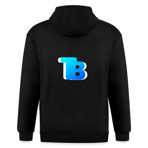 Trublu Overlapping letter Design - Men's Zip Hoodie