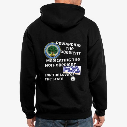 US Dept. of Education - Rewarding the Obedient... - Men's Zip Hoodie