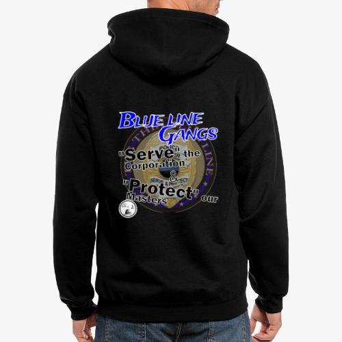 Thin Blue Line - To Serve and Protect - Men's Zip Hoodie