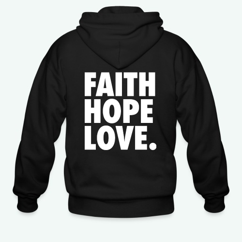 FAITH HOPE LOVE - Men's Zip Hoodie