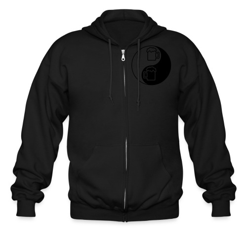 Yin Yang Beer Mugs - Men's Zip Hoodie