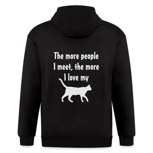 I love my cat - Men's Zip Hoodie
