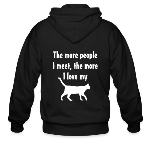 I love my cat - Men's Zip Hoodie