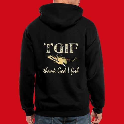 TGIF - Thank God I Fish - Men's Zip Hoodie