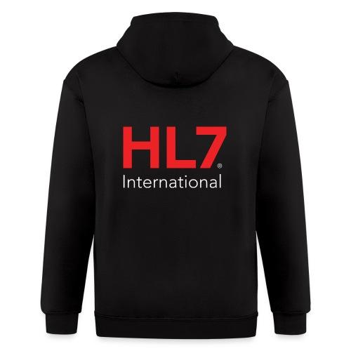 HL7 International Logo - Reverse - Men's Zip Hoodie