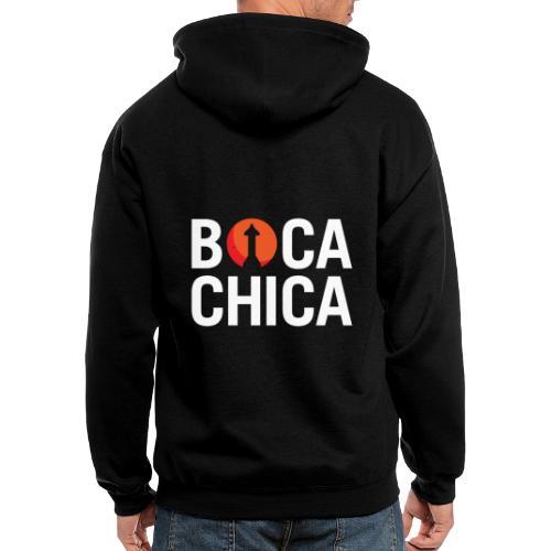 Boca Chica Starship Mars Silhouette - Men's Zip Hoodie