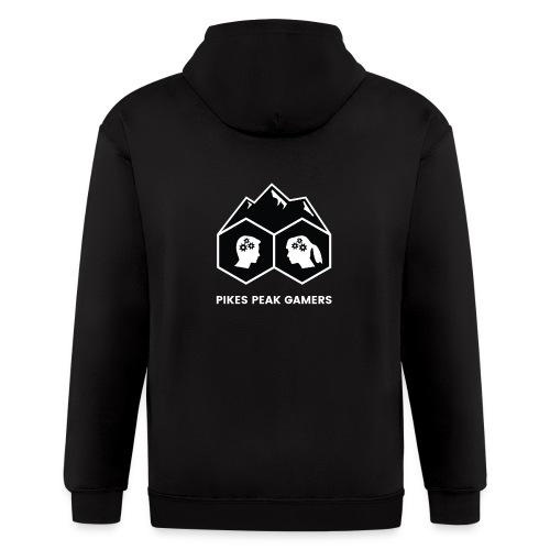 Pikes Peak Gamers Logo (Solid Black) - Men's Zip Hoodie