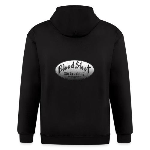 BloodShot Airbrushing Logo - Men's Zip Hoodie