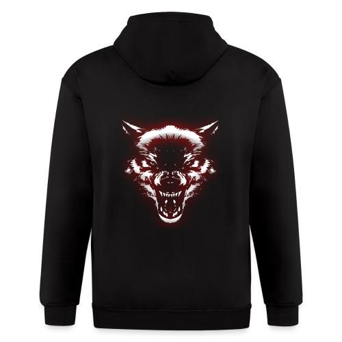 Angry Wolf - Men's Zip Hoodie