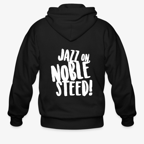 MSS Jazz on Noble Steed - Men's Zip Hoodie