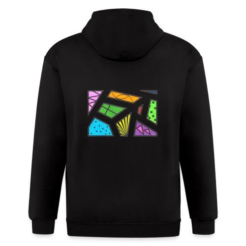 geometric artwork 1 - Men's Zip Hoodie