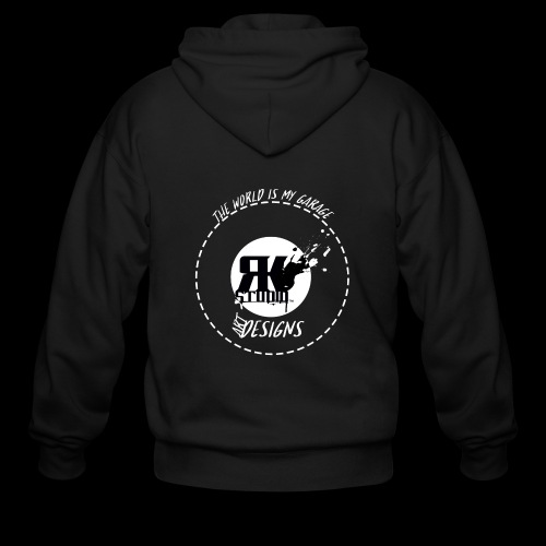 The World is My Garage - Men's Zip Hoodie
