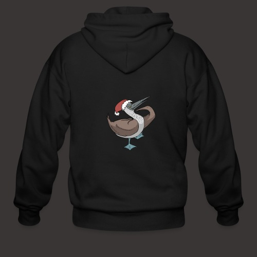 Boobie Bird Xmas Dance - Men's Zip Hoodie