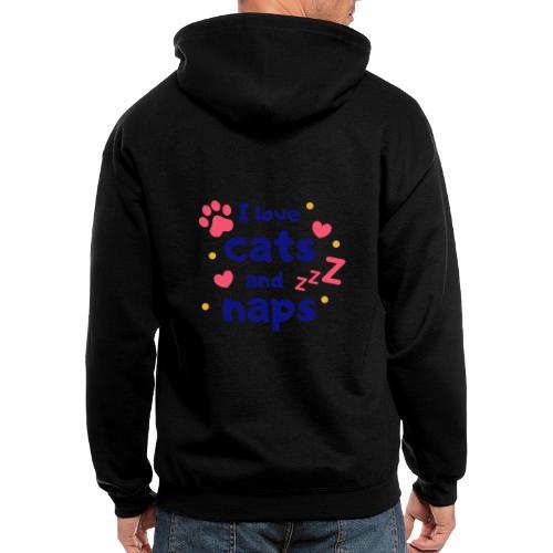 I love cats and naps - Men's Zip Hoodie