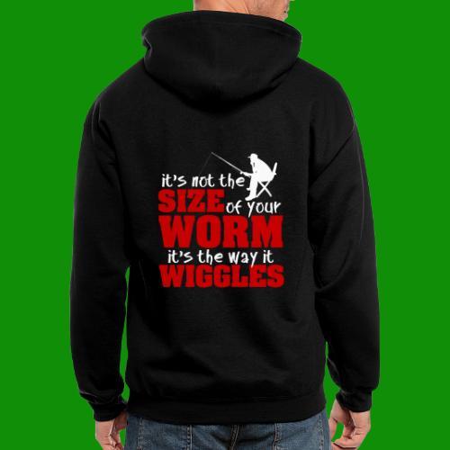 Not the Size of Your Worm Fishing - Men's Zip Hoodie