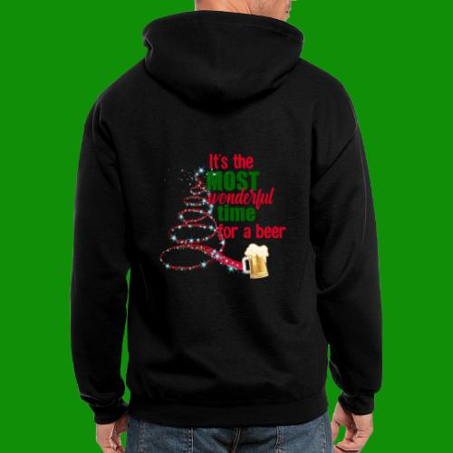 Most Wonderful Time For A Beer - Men's Zip Hoodie