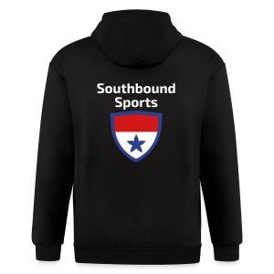 The Southbound Sports Shield Logo. - Men's Zip Hoodie