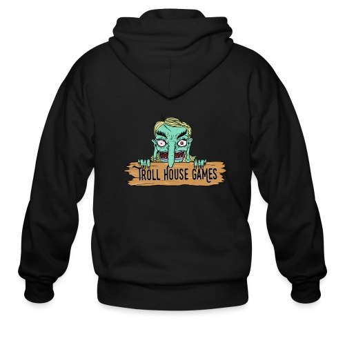 Troll House Games Cartoon Logo - Men's Zip Hoodie