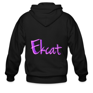 Ekcat text - Men's Zip Hoodie