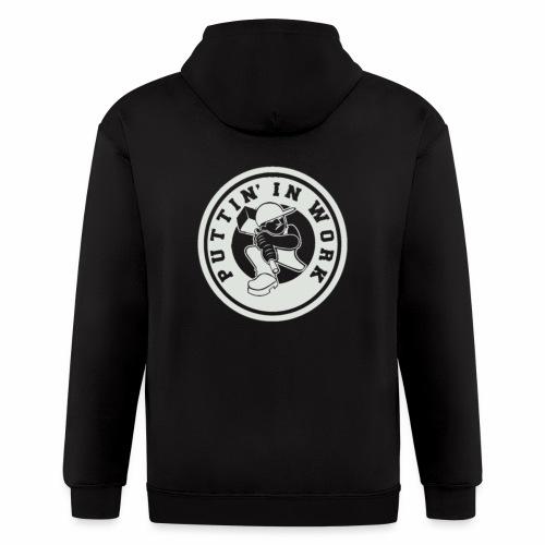 P.I.W White Logo - Men's Zip Hoodie