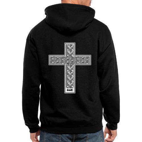 Jesus cross. I'm no longer a slave to fear. - Men's Zip Hoodie