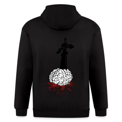 Sword in Brain - Men's Zip Hoodie