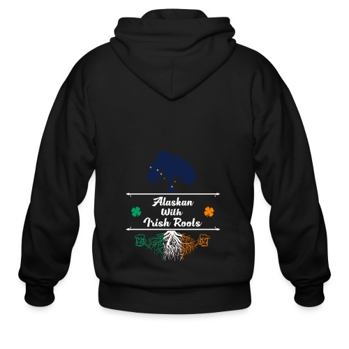 ALASKAN WITH IRISH ROOTS - Men's Zip Hoodie