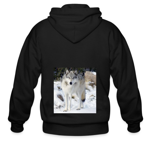 Canis lupus occidentalis - Men's Zip Hoodie