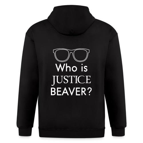 Who Is Justice Beaver - Men's Zip Hoodie