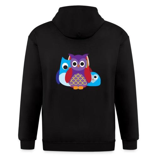 Cute Owls Eyes - Men's Zip Hoodie