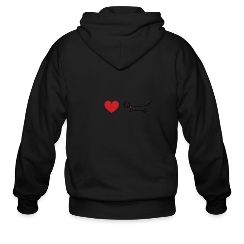 I love Dachshund - Men's Zip Hoodie