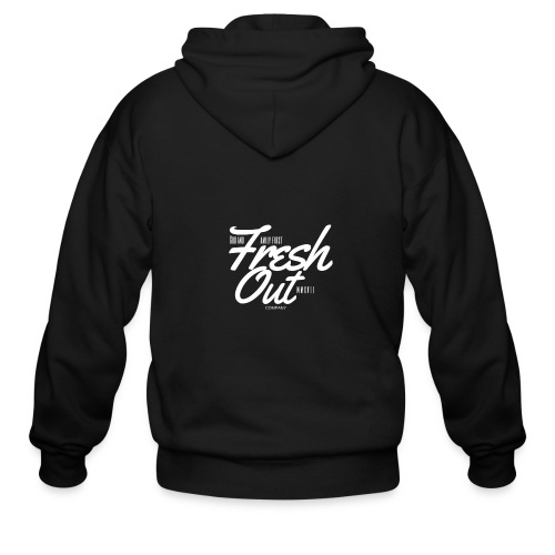 Fresh Out Beats Logo 24 - Men's Zip Hoodie