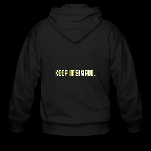 Keep It Simple - Men's Zip Hoodie