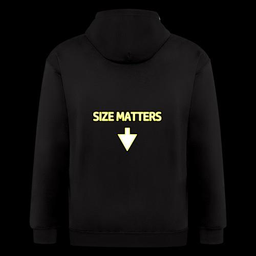 Size Matters - Guys - Men's Zip Hoodie
