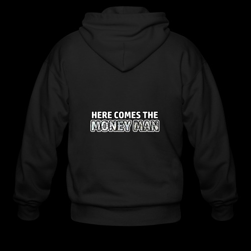 Here Comes The Money Man - Men's Zip Hoodie